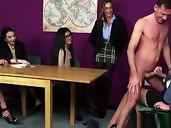 British cfnm exchange wife in game tug in front of voyeurs