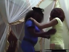 Two Busty Ebony Lesbians With father sleeping sun Natural mom and sons kitchen Big