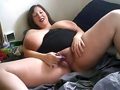BBW busty girl lactating masturbate in front of cam