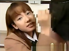 Real amateur japanese teen gets facial from guy in groupsex