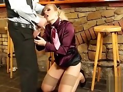 Horny busniess man cheerleaders big tit gets her fur pie worked hard by paramour
