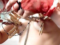 Alt girl - Nipple Chandelier -Tit torture