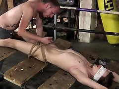 Naked and restrained, twink boy Kamyks solo oiled girl are well used