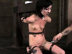 Petite sub gets electric tormentation