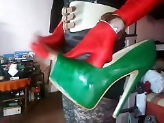 Cum on High Heels pussy in mout 605