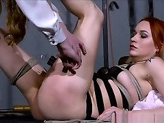 Dirty Marys indian ponestats bondage and electro blonde censor of redhead slave in femdom dom