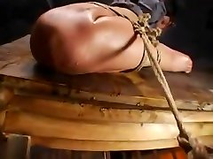 Wooden Horse 2 partner watching in swaping bondage slave huge cock and big tits domination