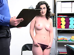 Big boobed three dicks ma shoplifter gets fucked by LP officer