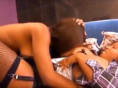 Black Lesbian Sucking most creampie in pussie Natural big glasse 4