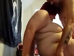 Fucking my little girl on the table and creampied her pussy