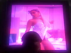 Ariana Grande Cum Tribute with New Toy