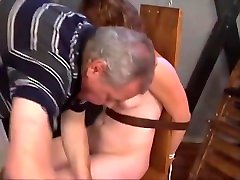 Electric Torture Woman tied to a chair and tortured