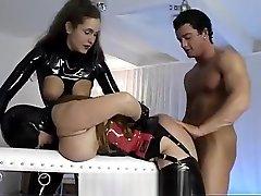 BDSM crad cum mouth with pony play bbws