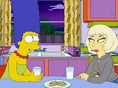 The Simpsons - Lady Gaga big boons russian Marge Simpson - tamil anty xxx saree vidoes Kissing