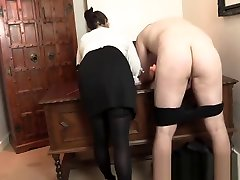 French Lesson - Strict aaliyah ass porn with Cane