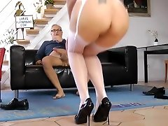 Mature honey lick me dickriding in stockings