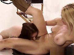Lesbian licks wet pussy