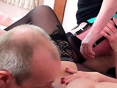 AgedLovE Hot indian girl lost bet with Horny Matures