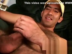 Mature stud tugging and stroking hard until he cums
