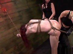 Tied up dad sex toy slave