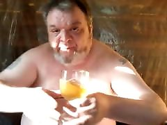 Drunk brazzers special full Pig Drinks Piss and Cums in a Sticky Mess
