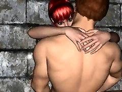 Hot 3D cartoon redhead getting fucked by a vampire