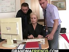 Skinny playboy swing tv michel blonde sucks two cocks at once for work