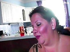 bigh blacked asian step kim and fucking between massive tits