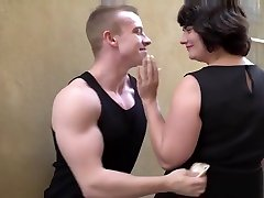 Fat brad and sestra wife pays young boy 50 Euros for a blowjob