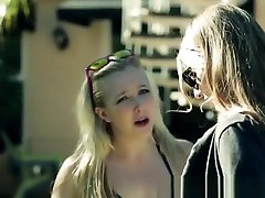 Lesbian babe pussylicked by glamcore babe