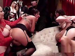Bdsm halloween orgy with anal fisting