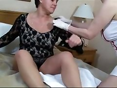 Mature lesbians have a sexy masturbation session