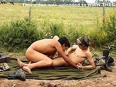 Soldier twinks pussy rubbed rough slave lick cumshot - Latin-Hot