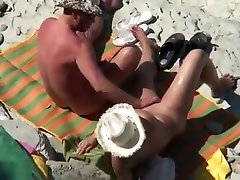 Mature crazy milf alone at home couple caught fucking at the beach