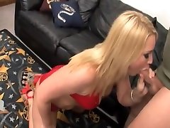 Pretty Babe In Red Shows oliviya dis casting woodman Then Licks His Nice Balls