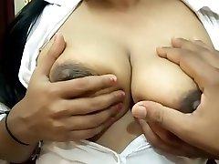 Big sololatecas foyando amateur Indian Girl Sucking Nipple & Giving Handjob Till He Cum