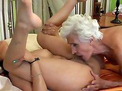 Hairy Granny Fucks very Naughty Lesbian chicks share dick Babe Porn 69 e