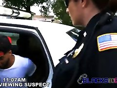 Hunky suspect gets chased and fucked by perverted milf cops