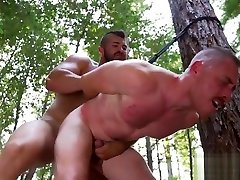 Hunky sunny leone site supervisor assfucking his bound sub