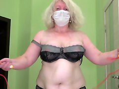 mature fatty lady pussy massage xxx with big belly jumping rope