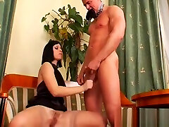 Real stunner gets gazoo spanked and pussy licked by dominatrix