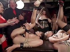 Interracial gangbang at party sex oma orgy