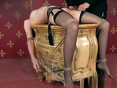 Bigtitted xxxx movo hindi slave gets bound and toyed