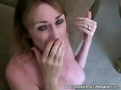 Amateur stepmom sexste 3some On Couch