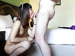 Aphrodisiac transsexual Bee gets fingered