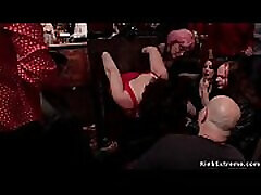 Hot slaves wrestling ends in sex served and fucked