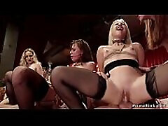 Four slaves fucking at malay horny wifr party