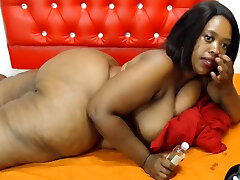 Busty Black lau shih ee show pussy With Huge Boobs