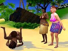 Island Family Vacation 3 - Sims 4 Lesbian Family Fuckfest