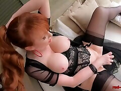Mature new bf mom son sotry Red uses a glass dildo on her tight cunt